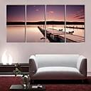 e-HOME® plátně umění břehu řeky scenérie dekorativní malba sadu 4