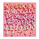 キッチンベーキングデコレーションツールの新しいデジタル文字フォンダンケーキの型石鹸チョコレートモールド