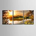 E-home® pruži platnu umjetnosti jezero ukras slikanje set od 3