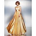 ts couture® formalno večernja haljina plus size / mali-line kašičica kat duljine protežu saten s različiti predmeti / ruching