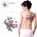 1 kom vodootporan šarena boja božur cvijeta serije leptir povećavanje uzorka tetovaža naljepnice