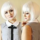 dámské módní krátké bílé cosplay strany paruky s plnou třesku