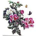 1個防水多色カラー牡丹の花シリーズ蝶は、パターンタトゥーステッカーを拡大
