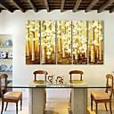 E-home® pruži platnu umjetnosti cvijet dekorativna slikanje set od 5