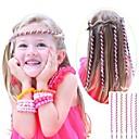 6PCS 24センチメートルピンク子供の巻き毛ロープ