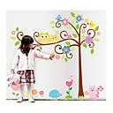 zidne naljepnice zidne naljepnice, stil crtani sova sretan stablo PVC zidne naljepnice