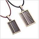 tina - korejský módní slitina počítadlo kůže pár náhrdelník v párty