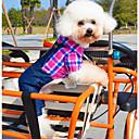 犬用品 コスチューム ジャンプスーツ グリーン ローズピンク 犬用ウェア 冬 春/秋 ジーンズ コスプレ カジュアル/普段着