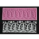 četiri-c utiskivanje čipka mat božićno drvce torta boja dizajn plijesni ružičasta