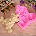 klaun obliku Fondant kolač čokoladna silikonska kalupa, cupcake ukras alati, l9cm * w8cm * h1.7cm