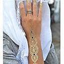 1ks dlouhý náhrdelník náramek zlaté tetování dočasné tetování nálepka pokožka tetování blesk tetování stran tetování