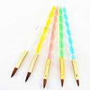 5pcs 5 boja, veličina 2-way profesionalni uv gel kist postaviti akril na noktima slikarstvo izvlačenja četkom
