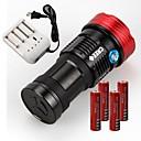Sky Ray LED svítilny LED 11000lm Lumenů Režim Cree XM-L T6 18650 Voděodolný / Dobíjecí / Protiskluzové držadloKempování a turistika /
