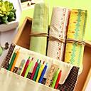 moderan jednostavan drhtavica platnu tri drvo olovka torba (slučajan odabir boje)