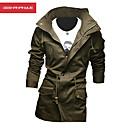 Manwan walk®men lidové ležérní slim pevná bunda s kapucí límec.