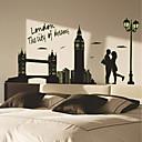svítící samolepky na zeď na stěnu, styl Londýn PVC samolepky na zeď