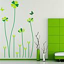 zidne naljepnice zidne naljepnice, sretan pet-lista trave PVC zidne naljepnice