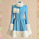 Kabát Sweet Lolita Lolita Cosplay Lolita šaty Modrá Patchwork Dlouhé rukávy Lolita Kabát Pro Dámské Vlna