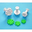 ハート形のプラスチックsugarcraftプランジャカッターで4-Cの心は3セット、古典的なケーキのデコレーションツール