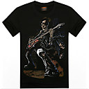 MEN Tシャツ ( コットンブレンド ) カジュアル/プリント ラウンド - 半袖