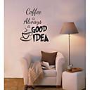 káva je vždycky skleněné okno kavárna samolepky na zeď