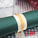 6pcs 25mm željezo srednje zlato mat salveta prstenje