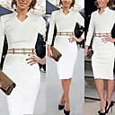Retro/Přiléhavé na tělo/Párty kulatý tvar - Dlouhé rukávy - ŽENY - Dresses ( Směs bavlny/Polyester )