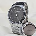 Personalizované dárky a pánské ležérní hodinky kožený pásek vyryto hodinky