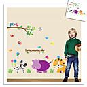 majmun slon lav Zoo zid naljepnice za djecu sobi zooyoo9046 ukrasne prijenosnih PVC zid decal