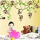 samolepky na zeď na stěnu, kreslená opice lezení z PVC samolepky na zeď