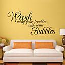 zid naljepnice zid naljepnice stil oprati svoje nevolje engleskih riječi&citati PVC zidne naljepnice