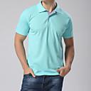 Pánské Bavlna/Polyester Denní nošení/Větší velikosti Jednobarevné Polo Krátký rukáv