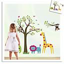 majmun slon lav zooyoo zid naljepnice za djecu sobi zooyoo5071 ukrasne prijenosnih PVC zid decal