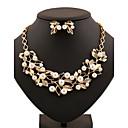 Šperky Set Křišťál Perly Módní Zlatá Stříbrná Svatební Párty Denní Ležérní 1Nastavte 1 x náhrdelník 1 x pár náušnic Svatební dary