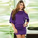 Přiléhavé na tělo/Párty Poloviční rukávy - ŽENY - Dresses ( Polyester )