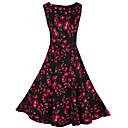 Retro/Ležérní/Párty kulatý tvar - Bez rukávů - ŽENY - Dresses ( Směs bavlny/Úplet )