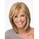 bob vlasy škrty syntetické paruky krátké rovné blonďaté paruky pro ženy plné paruky s ofinou