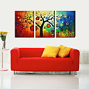 Oil Painting Decoration Landscape Lucky Tree Hand Painted Canvas with Stretched Framed - Set of 3