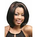 女性のためのファッションボブスタイル合成かつら短いストレートヘア、アフリカ系アメリカ人かつら