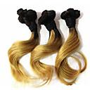 """1 ks hodně 8 """"Brazilský panna vlasy ombre # 27 lidských prodlužování vlasů svazky brazilský vlny vlasů nový styl"""