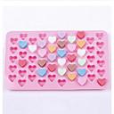55 dutina ve tvaru srdce silikonová bábovka Formičky na čokoládu (náhodné barvy)