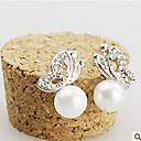イヤリング スタッドピアス ジュエリー 2 個 合金 / 人造真珠 女性 シルバー