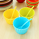 voćni sladoled salata desert zdjela s podudaranja žlice (slučajni boja)