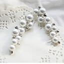 イヤリング 耳の袖口 ジュエリー 2 個 合金 / 人造真珠 女性 シルバー