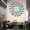 現代的なスタイルの金属ミュート壁時計