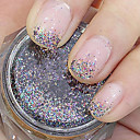 barevné třpytky prášek nail art ozdoby