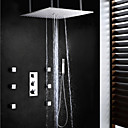 Sprchová baterie - Současné - Termostatický / Dešťová sprcha / Postranní tryska / Včetne sprchové hlavice - Mosaz (Pochromovaný)