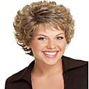 ženy Lady short umělých vlasů paruky pixie cut paruka krátké vlnité vlasy, hnědé, plavé, reportáže paruku