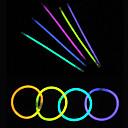 100pcs sjaj svjetlo štapići stranački obojena glowstick fluorescentne prstenovi