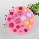 ボタン宝石状のフォンダンケーキチョコレートシリコーンモールド金型、装飾ツール耐熱皿